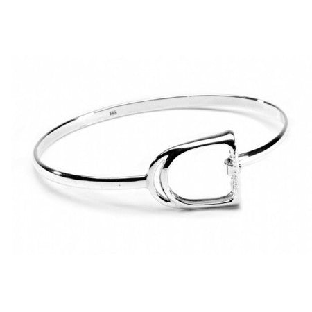 Sterling Silver Stirrup Bangle