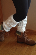 Load image into Gallery viewer, Fuzzy Warmers Knit Leg Warmers Pattern