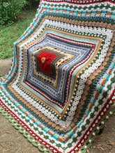 Load image into Gallery viewer, Christmas Around the World Blanket and Bonus Pillow Crochet Pattern