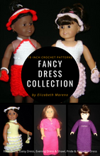 Load image into Gallery viewer, Fancy Dress Collection- 18 Inch Crochet Patterns