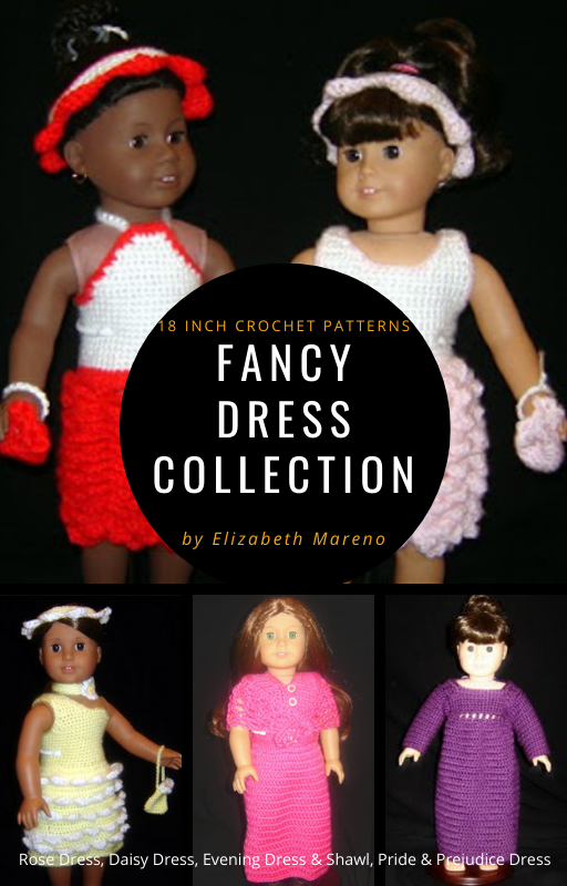 Fancy Dress Collection- 18 Inch Crochet Patterns