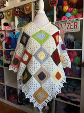 Load image into Gallery viewer, Scrappy Squares Poncho Pattern