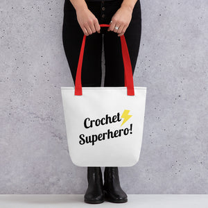 Crochet Superhero Tote Bag