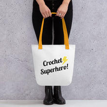 Load image into Gallery viewer, Crochet Superhero Tote Bag