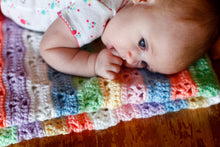Load image into Gallery viewer, Citrus Snowflakes Baby Blanket Pattern