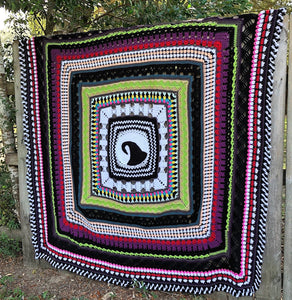 This is Halloween, Nightmare Before Christmas Inspiration Blanket Crochet Pattern