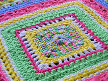 Load image into Gallery viewer, Faeries Crochet Baby Sampler Blanket