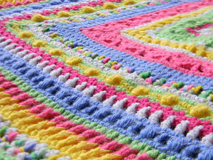 Faeries Crochet Baby Sampler Blanket