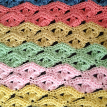 Load image into Gallery viewer, Irish Wave Crochet Baby Blanket Pattern