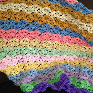 Irish Wave Crochet Baby Blanket Pattern