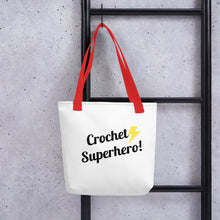 Load image into Gallery viewer, Crochet Superhero! Tote bag