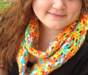 Chutes and Ladders Infinity Scarf Pattern