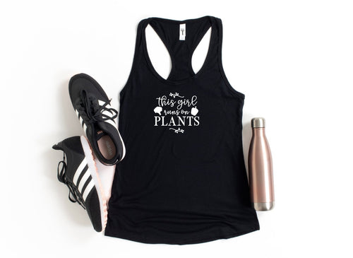 This girl runs on plants Tank Top - Moxie Momma
