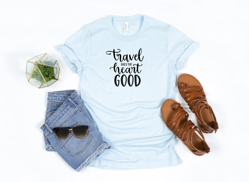 Travel does the heart good T-shirt - Moxie Momma