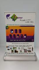 "Table Top Retractable Banner Stand - 8.375""w x 11.25""h Graphic Size"