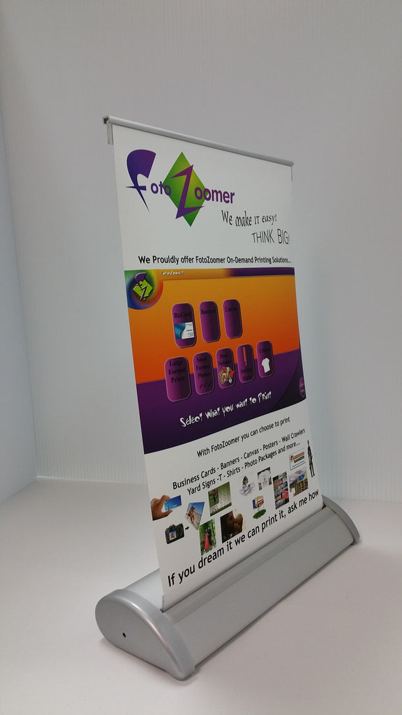 FZ Supplies - Table Top Retractable Banner Stand-8 375