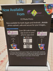 "Phone App Table Top Retractable Banner Stand - 8.375""w x 11.25""h Graphic Size Image 1"