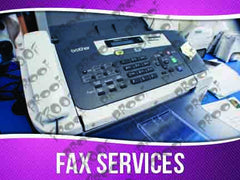 Fax Service Signage - Horizontal