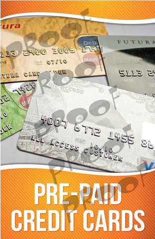 Pre-Paid Credit Cards Signage