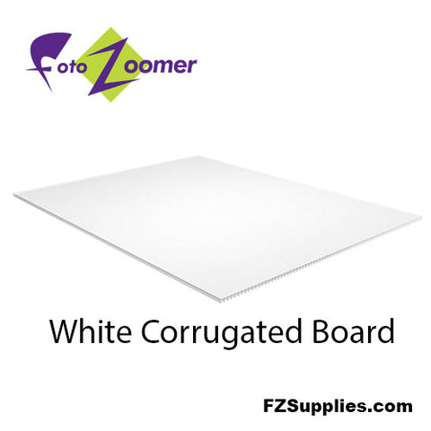 White Corrugated Board Panels for Signs - Yard Signs - Qty. 10