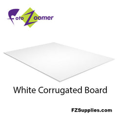 White Corrugated Board Panels for Signs