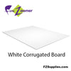 White Corrugated Board Panels for Signs - Yard Signs
