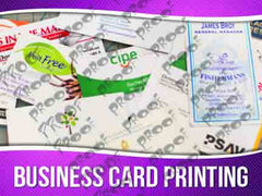 Business Card Printing Signage - Horizontal