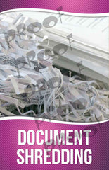 Document Shredding Signage