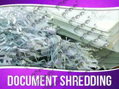 Document Shredding Signage - Horizontal