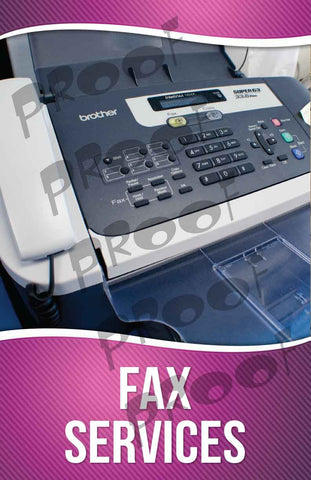 Fax Service Signage