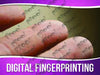 Digital Fingerprinting Signage - Horizontal