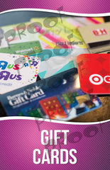 Gift Cards Signage