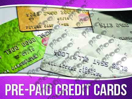 Pre-Paid Credit Cards Signage - Horizontal