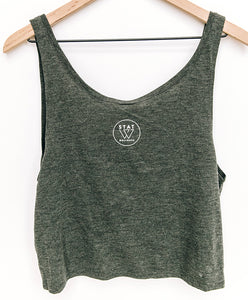 Wellness Feels Good Crop Top Tank