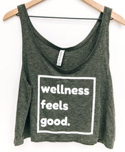 Load image into Gallery viewer, Wellness Feels Good Crop Top Tank