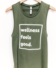 Load image into Gallery viewer, Wellness Feels Good Muscle Tank