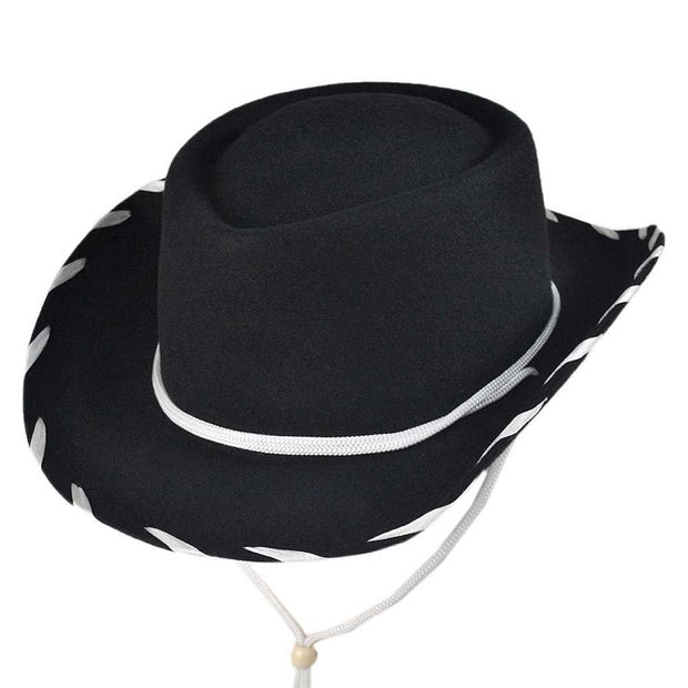 Jaxon Kids Cow boy Hat(Black)