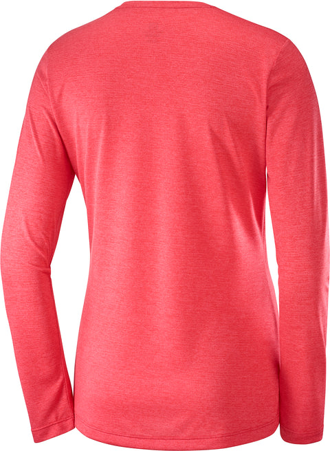 AGILE LS TEE W (Cayenne/Heather)