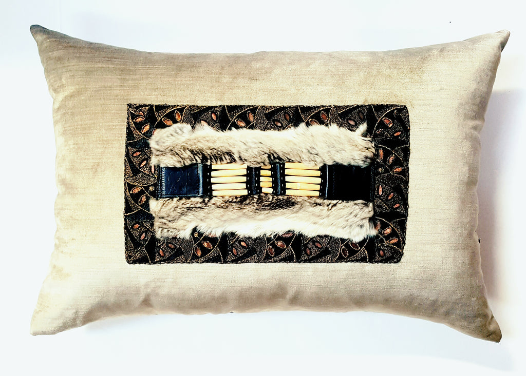 """La Centinella"" Textile Pillow Art"