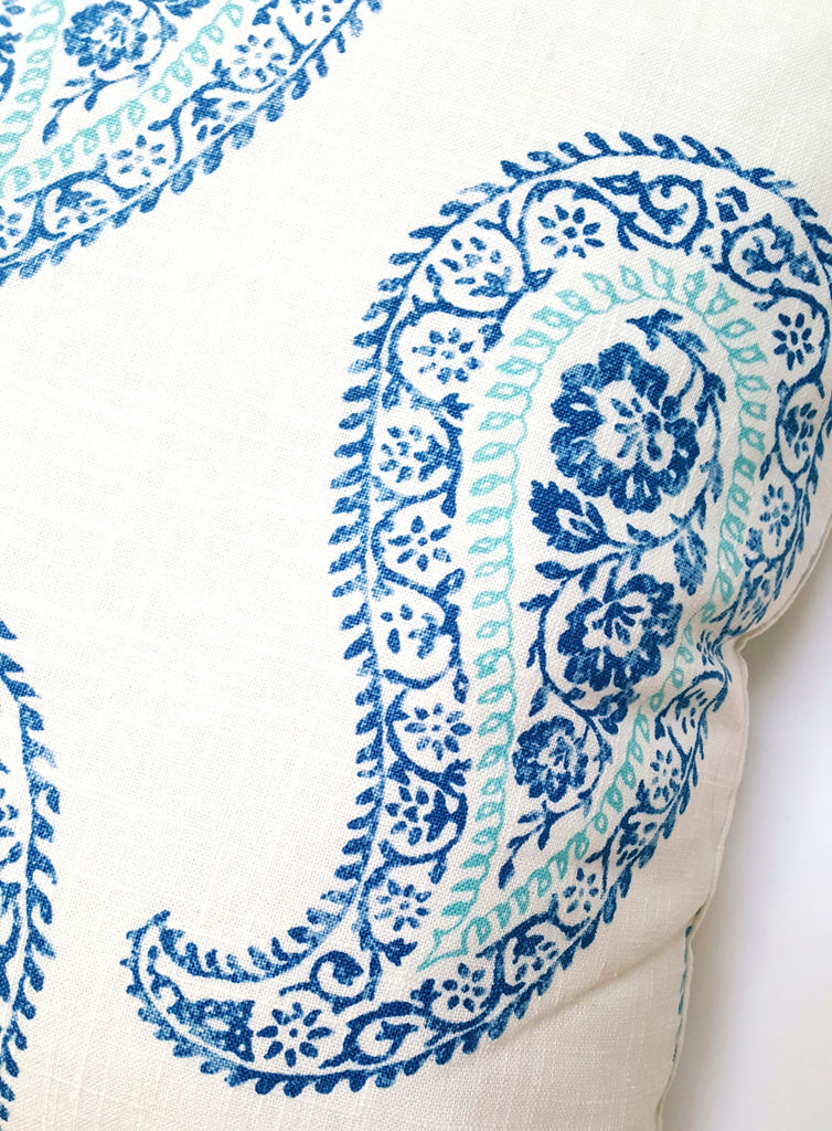 Blue and White Kravet Paisley