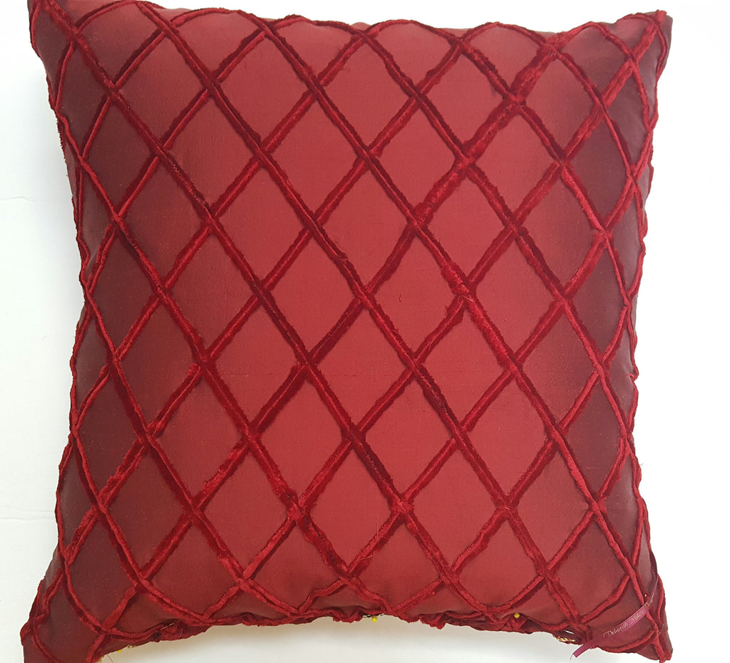 The Scarlett Textile Art Pillow