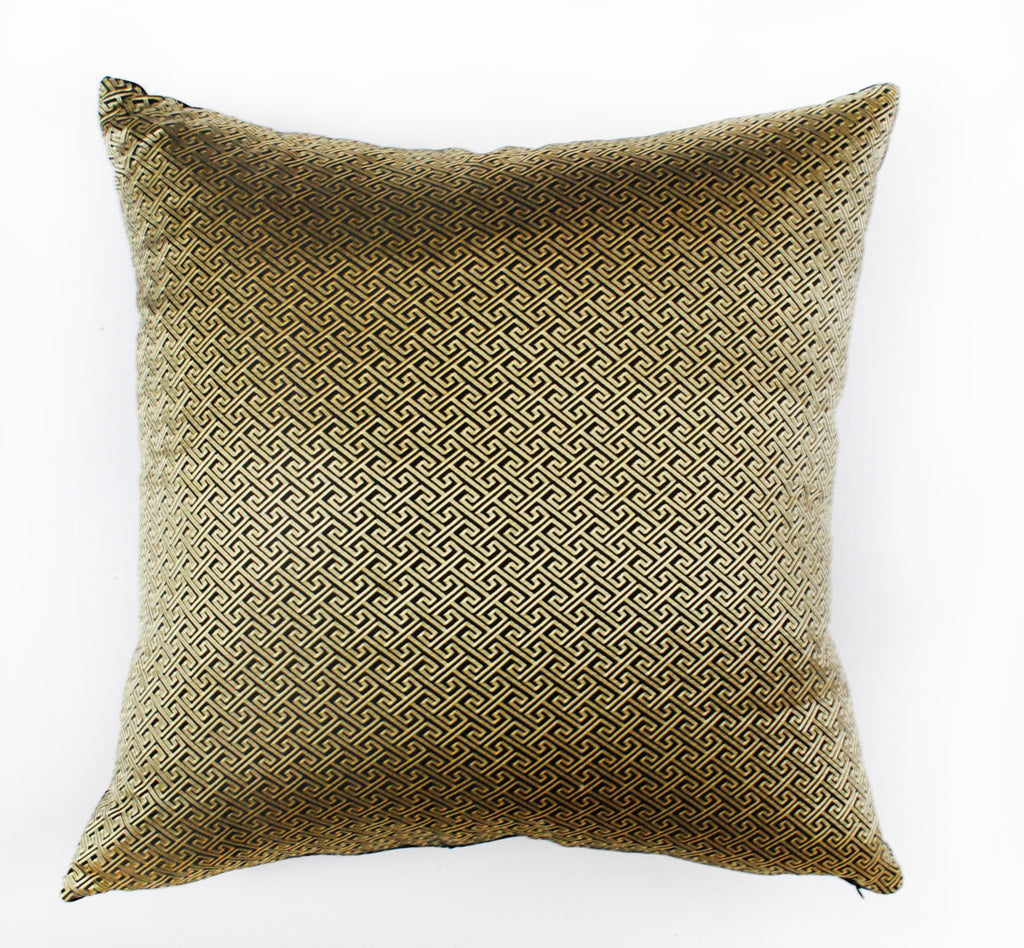 Key Pattern Silk Brocade Pillow