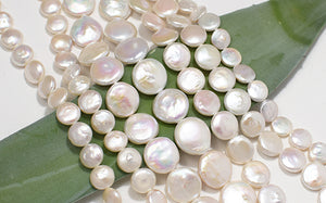 coin pearl flat lay