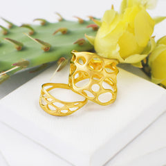 gold botanical jewelry