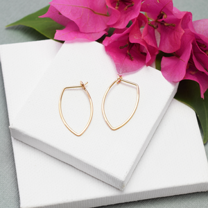 Amulet Small Gold Petal Hoop Earrings