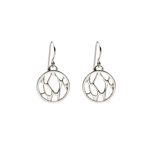 Opuntia Small Framed Circle Cactus Earrings