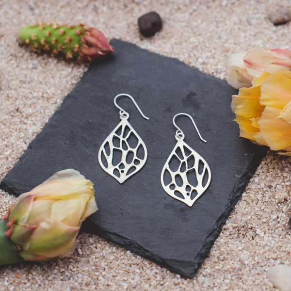 Opuntia Medium Framed Lily Cactus Earrings