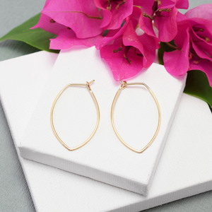 Amulet Medium Gold Petal Hoop Earrings