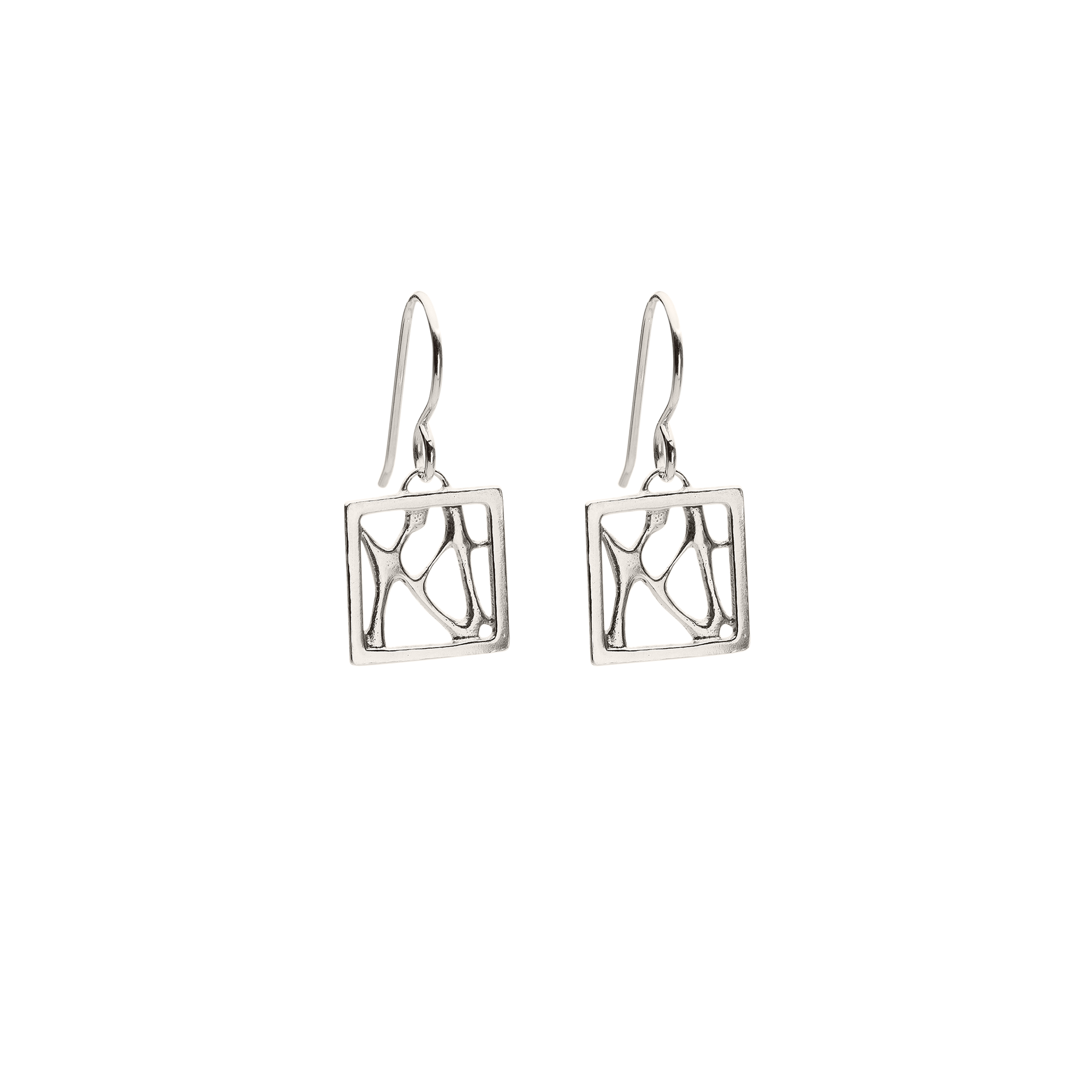 Opuntia Small Square Cactus Earrings