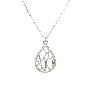 Opuntia Medium Framed Teardrop Cactus Necklace